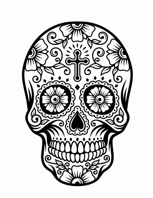 Sugar Skull Outline Unique Best 25 Candy Skulls Ideas On Pinterest