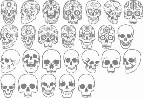 Sugar Skull Outlines Awesome 17 Best Ideas About Skull Tattoo Design On Pinterest