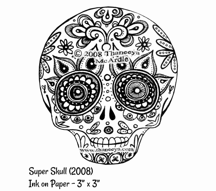 Sugar Skull Outlines Awesome Sugar Skull Outline
