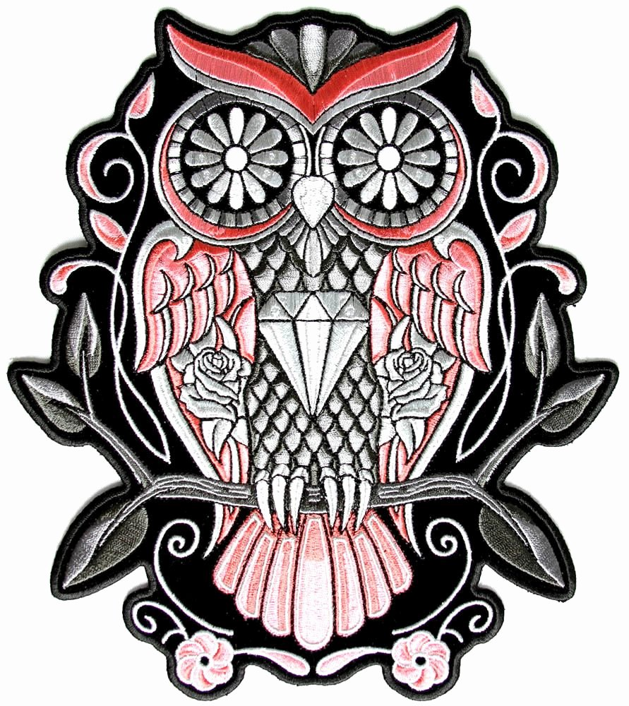 Sugar Skull Outlines Beautiful Sugar Skull Owl Tattoo Meaning Car Tuning