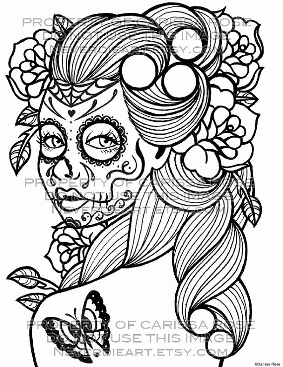 Sugar Skull Outlines Elegant 24 Best Sugar Skull Tattoo Outlines Images On Pinterest