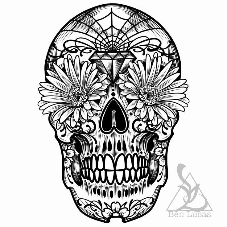 Sugar Skull Outlines Lovely 17 Best Images About Everybody Needs A Skull On Pinterest