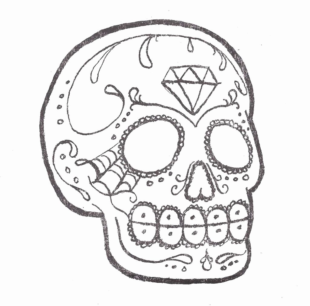 Sugar Skull Outlines Luxury Sugar Skull Outline