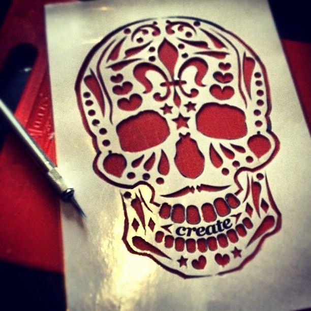 Sugar Skull Pumpkin Carving Stencils Beautiful Stencil Cut Hope It Works Got some House Chores and A