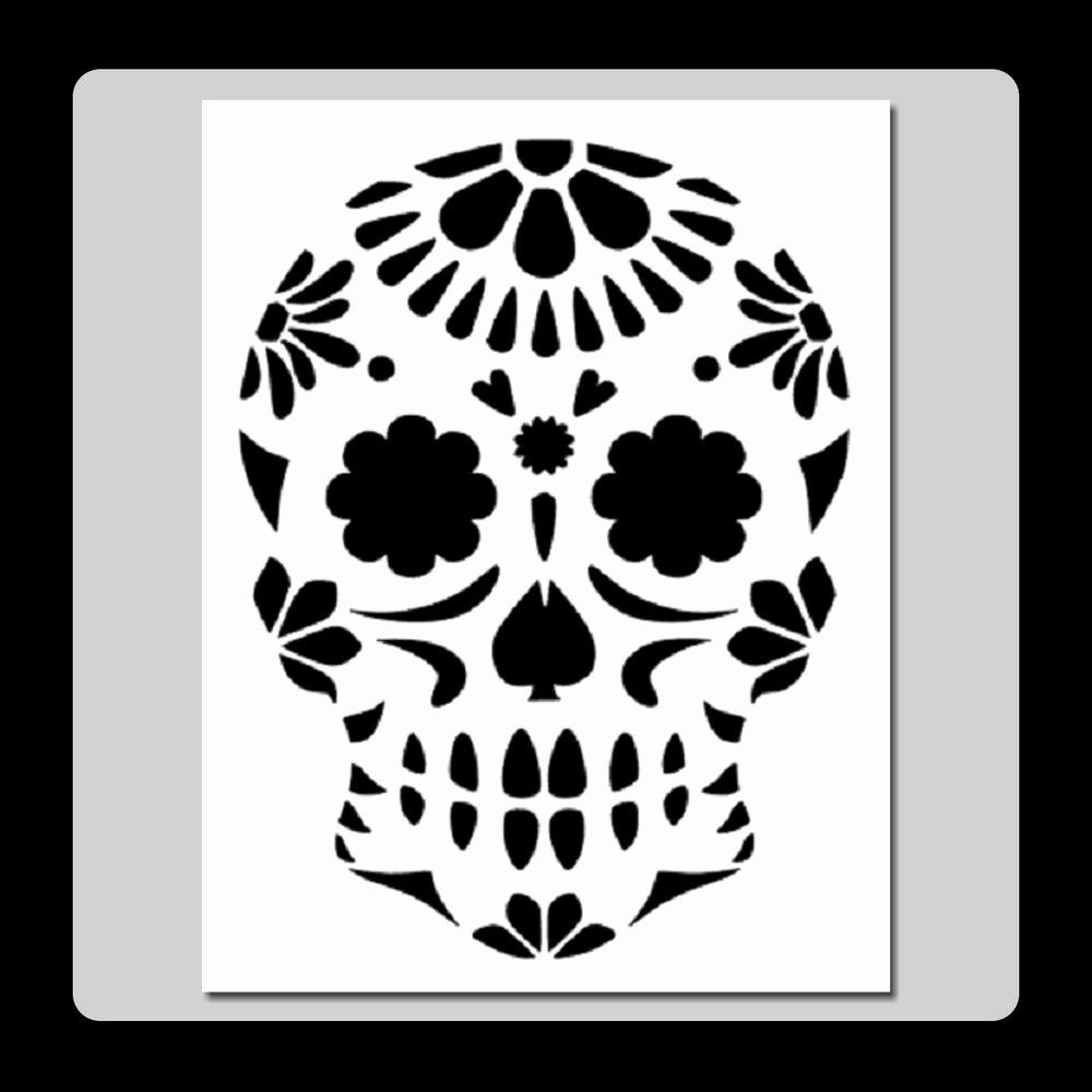 Sugar Skull Pumpkin Carving Stencils Inspirational 7 X 9 Floral Sugar Skull Face Stencil Day Of the Dead