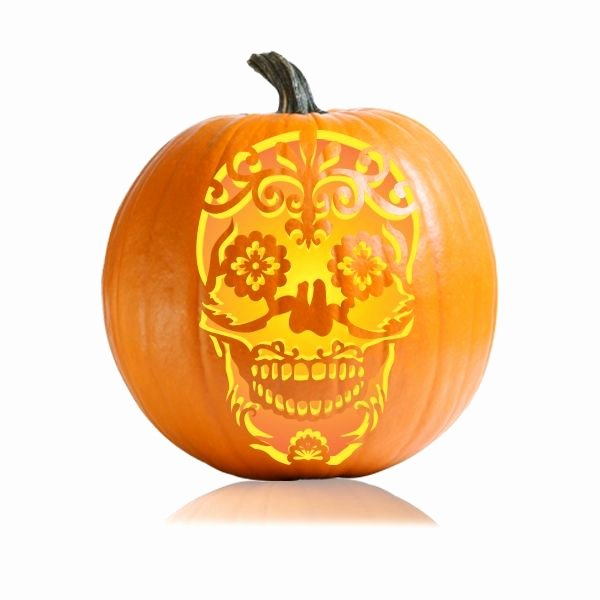 Sugar Skull Pumpkin Carving Stencils New Best 25 Sugar Skull Pumpkin Ideas On Pinterest