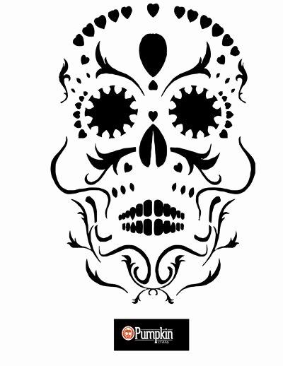 Sugar Skull Pumpkin Carving Stencils New Best 25 Sugar Skull Pumpkin Stencil Ideas On Pinterest