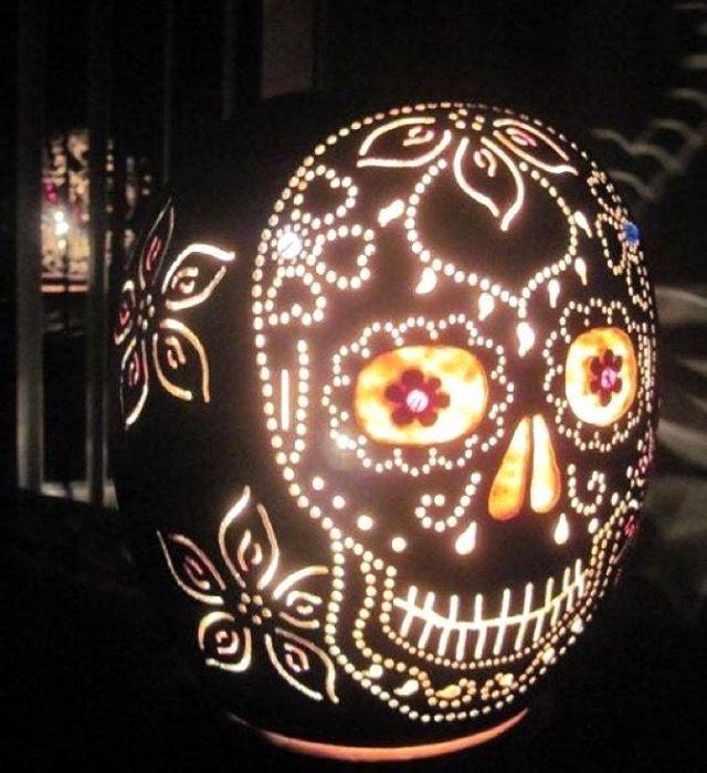 Sugar Skull Pumpkin Stencil Elegant Best 25 Sugar Skull Pumpkin Ideas On Pinterest