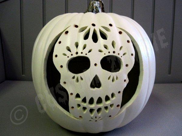 Sugar Skull Pumpkin Stencil Elegant Pumpkin Stencil Sugar Skull Carving Crafts