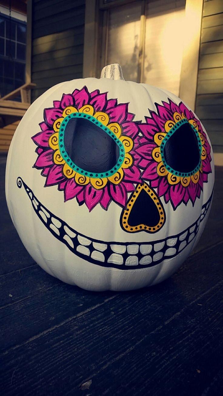 Sugar Skull Pumpkin Stencil Elegant the 25 Best Sugar Skull Pumpkin Ideas On Pinterest
