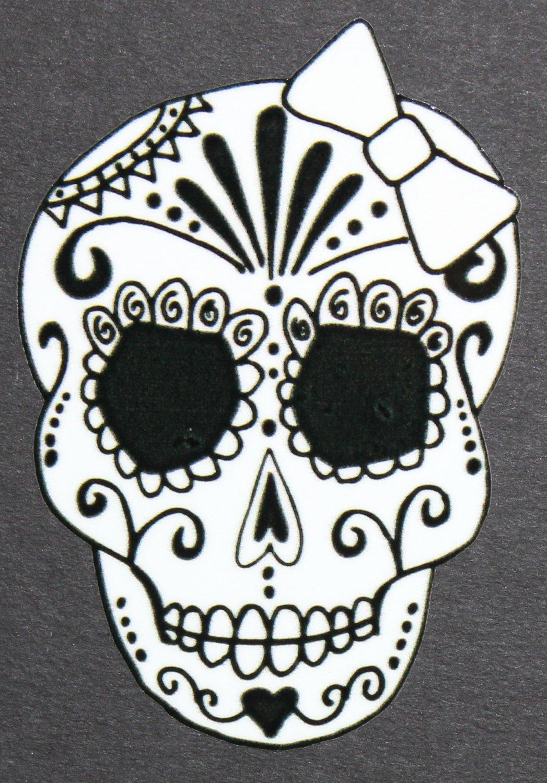 Sugar Skull Pumpkin Stencil Fresh Day Of the Dead Art Girl Sugar Skull Car Sticker 39 46