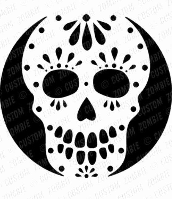 Sugar Skull Pumpkin Stencil Inspirational 23 Best Blackout Images On Pinterest