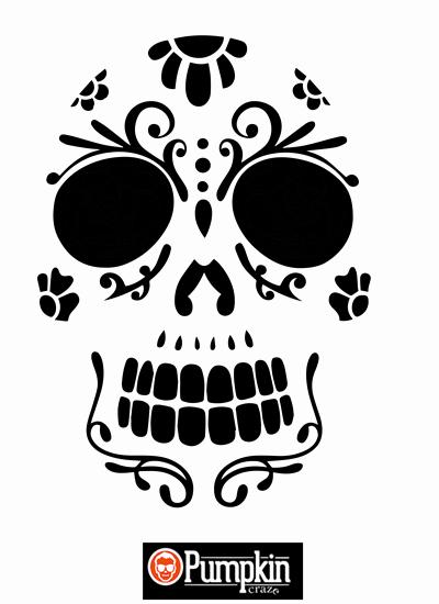 Sugar Skull Pumpkin Stencil Inspirational 26 Free Pumpkin Carving Templates