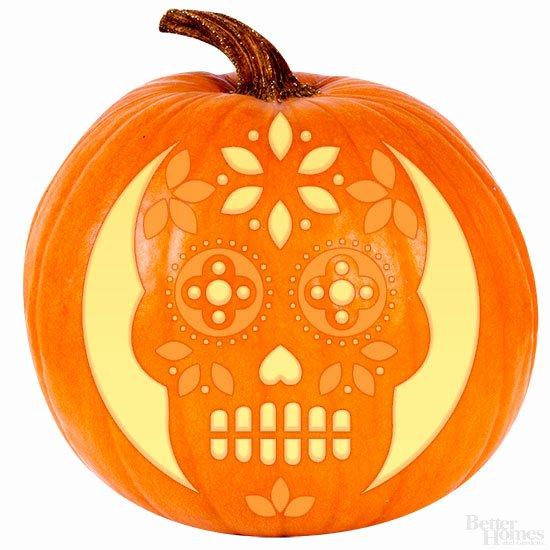 Sugar Skull Pumpkin Stencil Lovely Sugar Skull Pumpkin Stencil