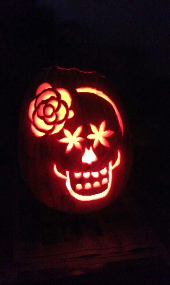 Sugar Skull Pumpkin Stencil Luxury tonya Dusold Da De Los Muertos