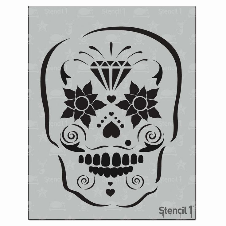 Sugar Skull Pumpkin Stencil New Best 25 Sugar Skull Stencil Ideas On Pinterest