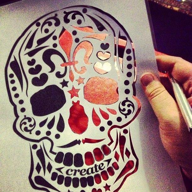 Sugar Skull Pumpkin Stencil New How to Make A Face Skeleton Stencil Google Search