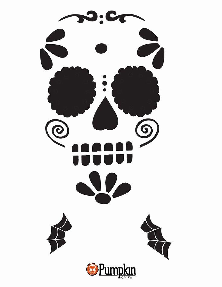 Sugar Skull Pumpkin Stencil Unique Best 25 Skull Stencil Ideas On Pinterest