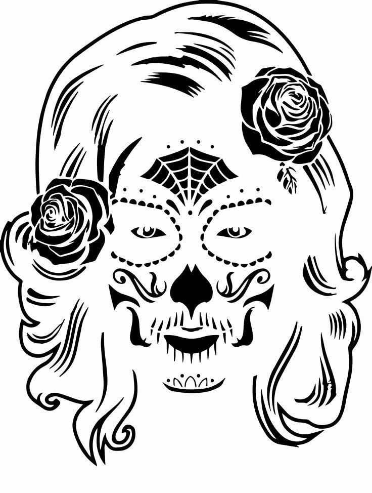 Sugar Skull Pumpkin Stencil Unique Best 25 Sugar Skull Pumpkin Ideas On Pinterest