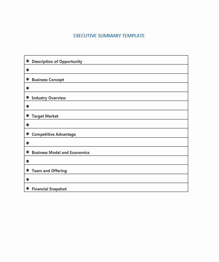 Summary Document Template Inspirational 30 Perfect Executive Summary Examples & Templates