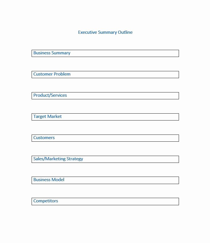 Summary Document Template Luxury 30 Perfect Executive Summary Examples & Templates