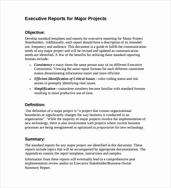 Summary Report format Best Of Executive Report Template 5 Download Free Documents In