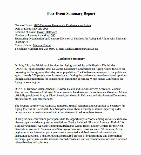 Summary Report format Inspirational Summary Report Template 10 Free Pdf Word Apple Pages