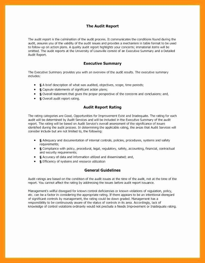 Summary Report format New 9 10 Samples Of Executive Summary Report
