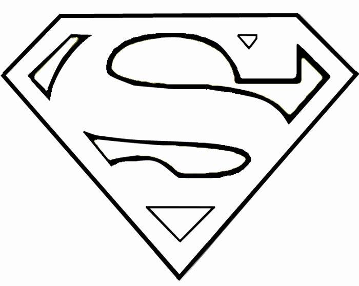 Superman Logo Stencil Best Of Superman Logo Template Clipart Best