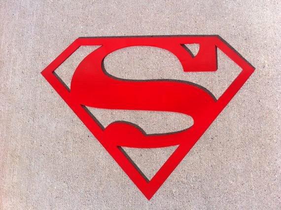 Superman Logo Stencils Lovely 6 Inch Superman Logo Symbol Metal Art ornament by Thorsforge