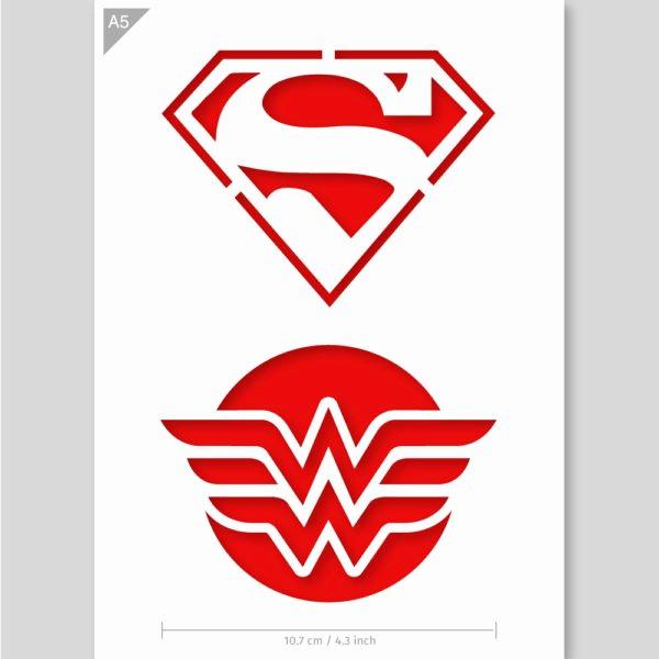 Superman Logo Stencils New Superhero Stencil From Qbix