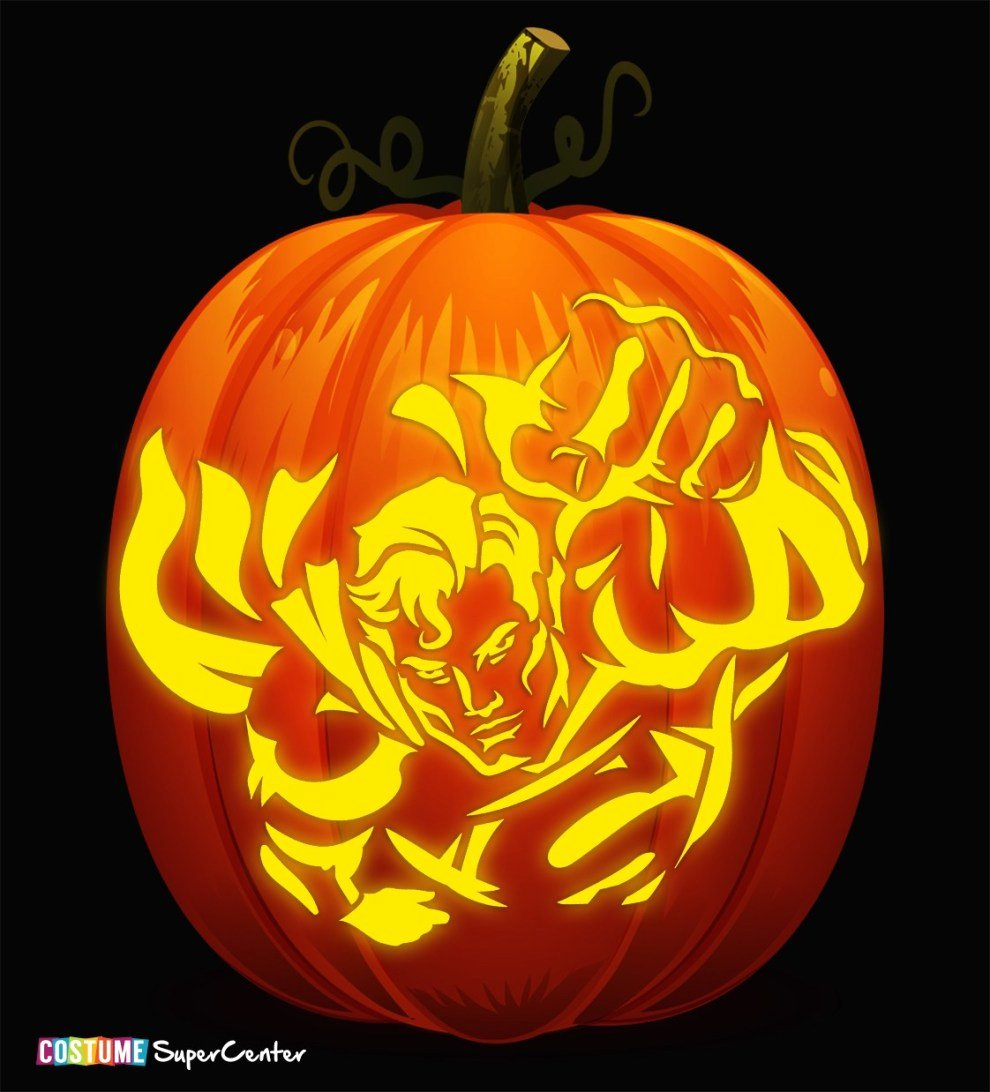 Superman Pumpkin Stencils New In Time for Halloween Justice League Pumpkin Stencils