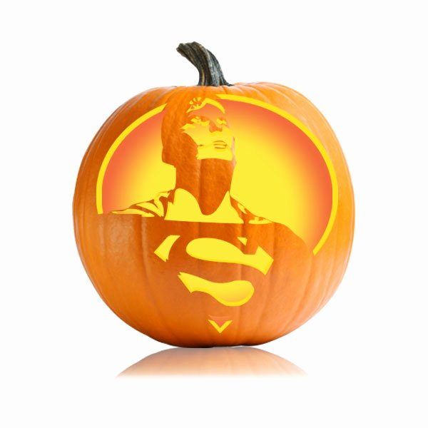 Superman Pumpkin Stencils New Superman Pumpkin Stencil