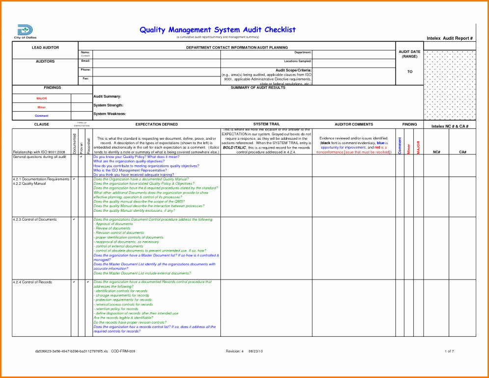Supplier Audit Template Fresh External Audit Report Template Picture – Audit Report