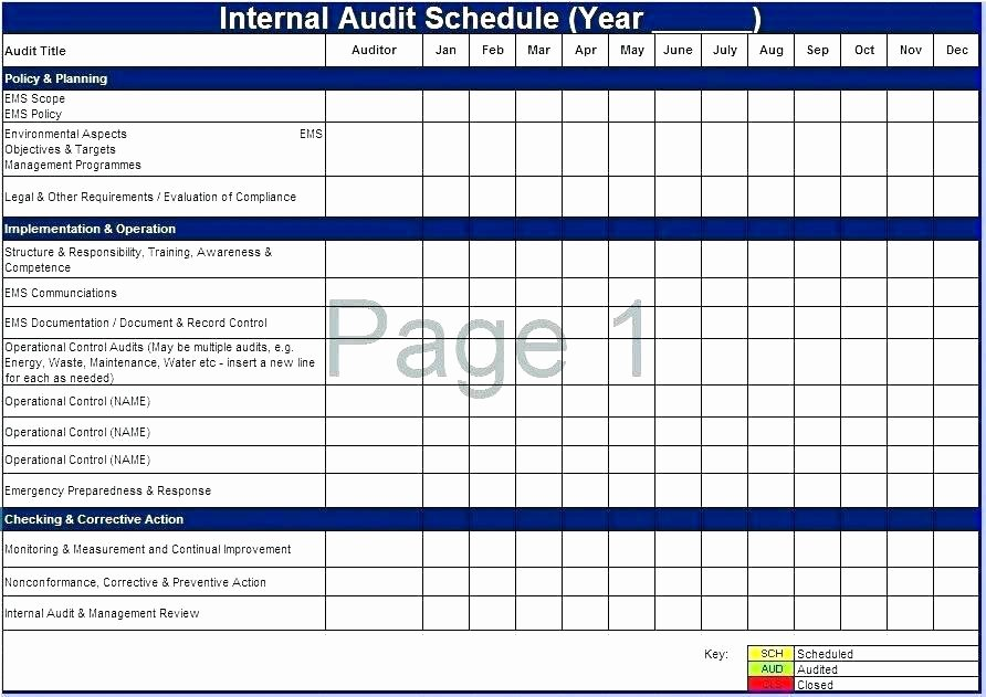 Supplier Audit Template New Supplier Audit Schedule Template Erieairfair