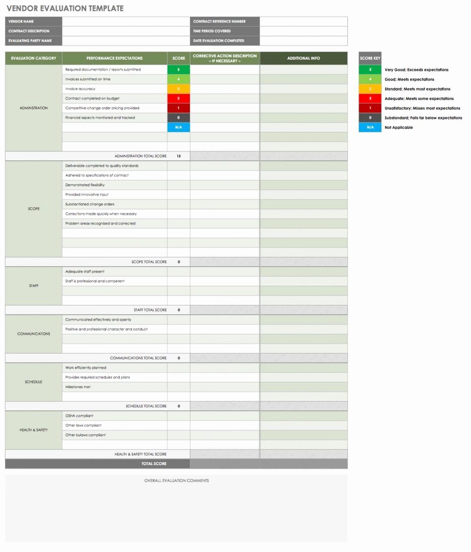 Supplier Performance Scorecard Template Xls Best Of 13 Free Vendor Templates