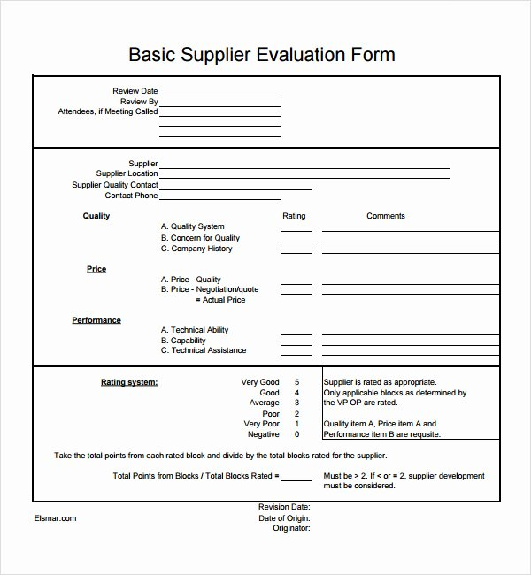 Supplier Performance Scorecard Template Xls Best Of Supplier Evaluation Template 8 Download Free Documents