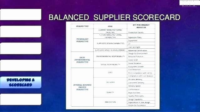 Supplier Performance Scorecard Template Xls New Vendor Evaluation Template