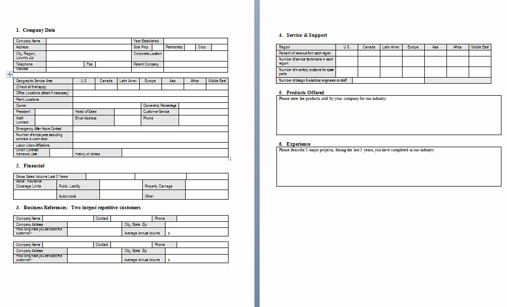 Supplier Questionnaire Template Inspirational Procurement Templates & tools