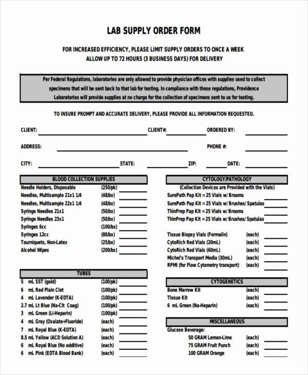 Supplies order form Awesome 28 order forms In Pdf