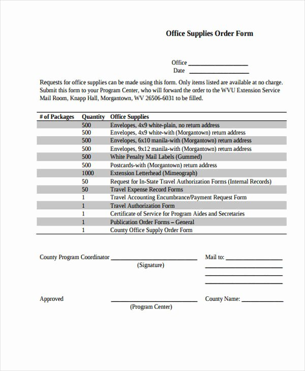 Supplies order form Awesome 32 Sample Service order forms