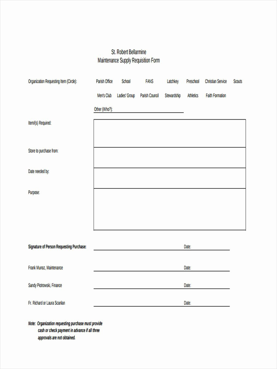 Supply order forms Beautiful 7 Supply Requisition forms Free Sample Example format