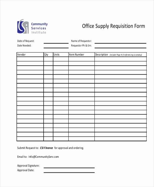 Supply order forms Beautiful Sample Requisition form 11 Free Documents In Doc Pdf