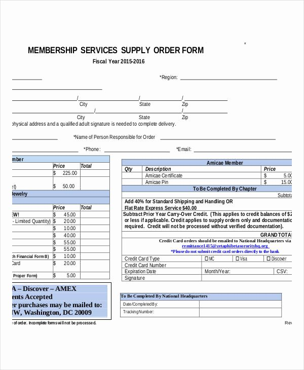 Supply order forms Lovely 35 Service order forms In Pdf