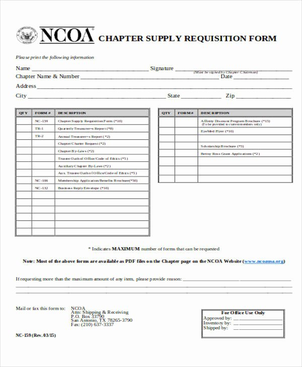 Supply order forms New 40 Sample Requisition form In Pdf