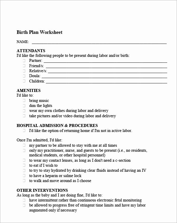 Surgeon Preference Card Template Elegant 22 Sample Birth Plan Templates – Pdf Word Apple Pages