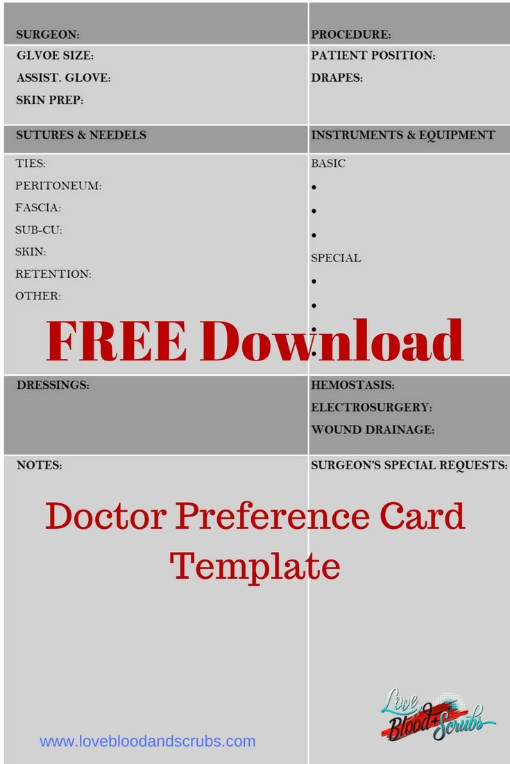Surgeon Preference Card Template Lovely Best 25 Surgical Tech Ideas On Pinterest