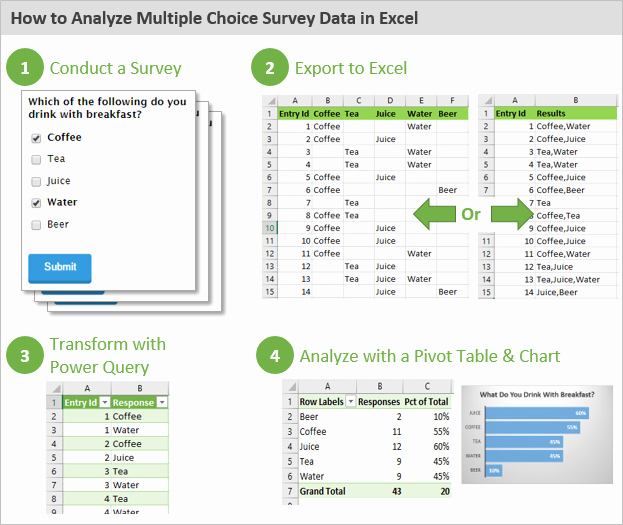 Survey Results Excel Template Inspirational How to Analyze Survey Data In Excel Video Excel Campus