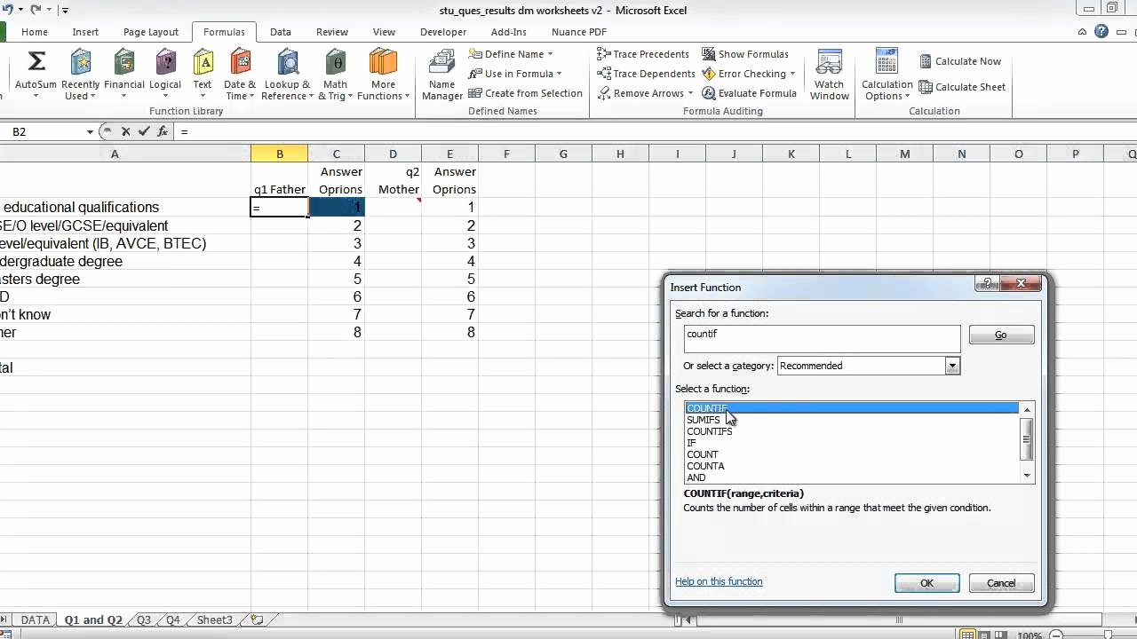 Survey Results Excel Template Luxury Excel and Questionnaires How to Enter the Data and Create