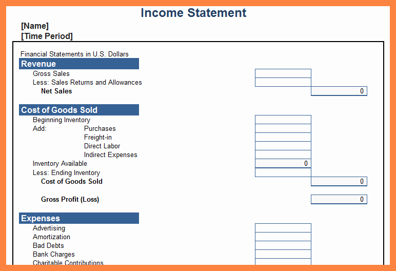 Synonym for Finance Unique 9 Personal In E Statement Template Excel